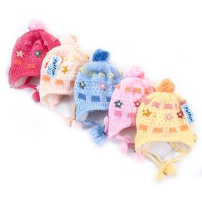 Шапка детская на меху 5 о/г 42-46 см разные расцветки фото