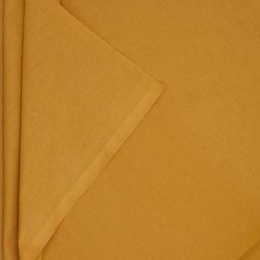 Ткань на отрез поплин гладкокрашеный 115 гр/м2 220 см цвет горчица фото