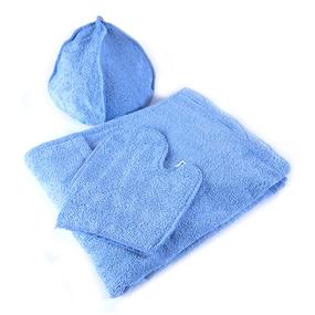 Набор для сауны мужской цвет голубой фото