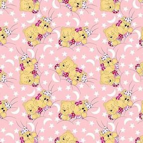 Бязь ГОСТ детская 150 см 1286/2 Соня розовый фото