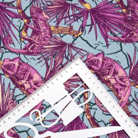 Ткань на отрез кулирка R7131-V4 Хамелеон фото