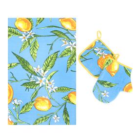 Набор вафельный - полотенце/рукавичка/прихватка вид 4 фото