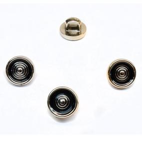 Пуговица ПР123 черная золото уп 50 шт фото
