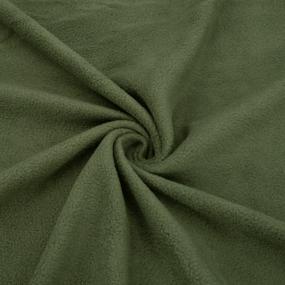 Ткань на отрез флис цвет Хаки фото