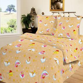 Наволочка бязь детская 4098/1 Облачко цвет желтый 40/60 см фото