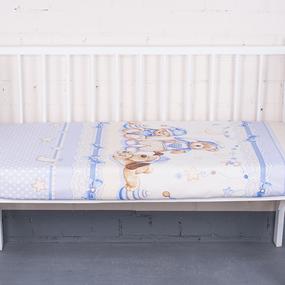 Простыня на резинке бязь детская 198711 Нежный сон осн. 1 гол. 60/120/12 см фото