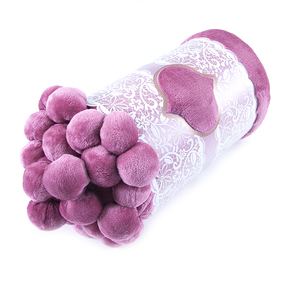 Покрывало бубон 200/220 цвет розовый фото