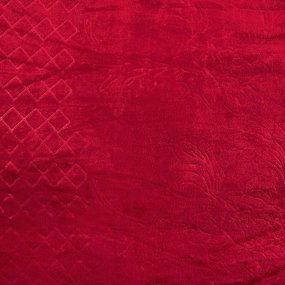 Покрывало бубон с рисунком 200/220 цвет красный фото