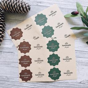 Крафт наклейки handmade for you цветные для декора фото