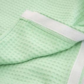 Вафельная накидка на резинке для бани и сауны Премиум женская с широкой резинкой цвет 304 мята фото