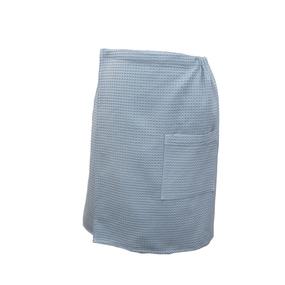 Вафельная накидка на резинке для бани и сауны Премиум мужская 60 см цвет 952 серый фото