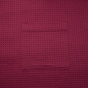 Вафельная накидка на резинке для бани и сауны Премиум женская 80 см цвет 789/3 брусничный фото