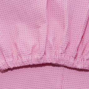 Набор для сауны вафельный женский 3 предмета цвет розовый фото