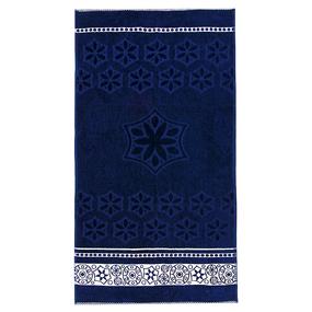 Полотенце велюровое Европа 70/130 см цвет синий фото