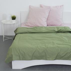 Постельное белье из поплина Эвкалипт 2-х сп с евро простыней фото