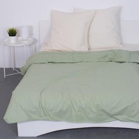 Постельное белье из поплина Фисташка 2-х сп с евро простыней фото