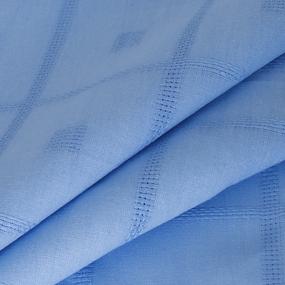 Скатерть лен 14 150/150 цвет голубой уценка фото