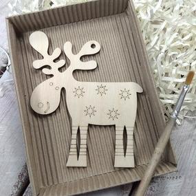 Набор для создания игрушки из фанеры Олень фото