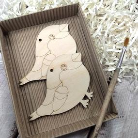 Набор для создания игрушки из фанеры Снегирь фото