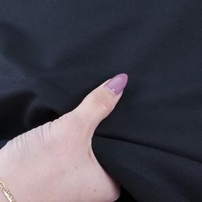 Ткань на отрез футер петля с лайкрой Черный фото
