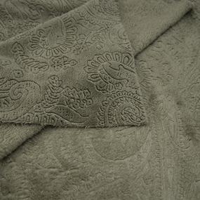 Ткань на отрез велсофт Orrizonte 300 гр/м2 200 см 3069 цвет олива фото