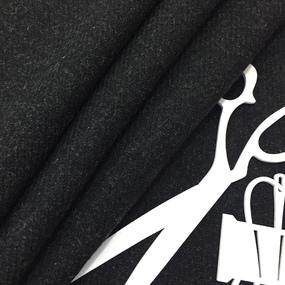 Ткань на отрез пальтовая цвет черный фото
