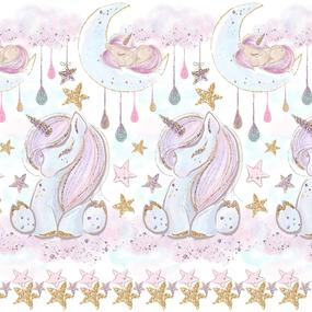 Ткань на отрез перкаль 150 см 13247/1 Unicorns Модель 1 фото