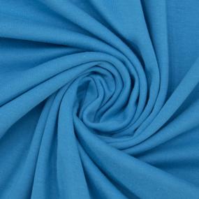 Ткань на отрез кулирка М-2077 цвет бирюзовый фото