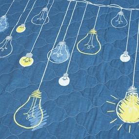 Покрывало стеганое Люмен (светится в темноте) 798-1 индиго 150/210 фото