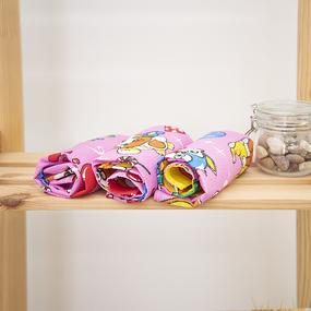 Набор вафельных полотенец 3 шт 45/60 см 329А цвет розовый фото