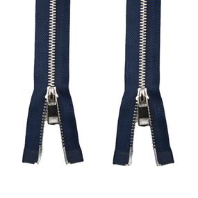Молния металл №5ТТ никель два замка 75см D919 морской синий фото