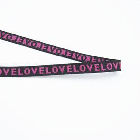Тесьма LOVE розовый 1см 1 метр фото