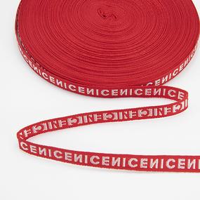 Тесьма NICE красный 1см 1 метр фото