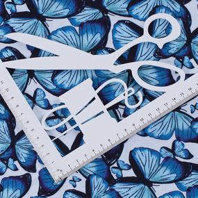 Ткань на отрез кулирка R6122-V2 Бабочки фото