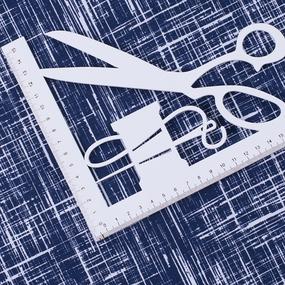 Ткань на отрез кулирка R1098-V1 цвет синий фото