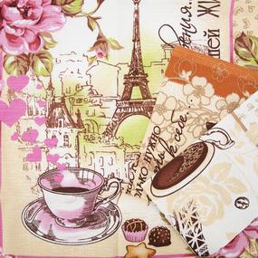 Набор вафельных полотенец 3 шт 45/60 см 10361/1 Париж фото