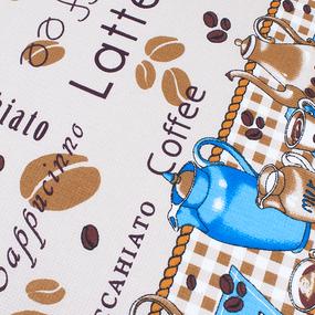 Фартук кухонный из вафельной ткани 379 Чаепитие цвет бежевый фото
