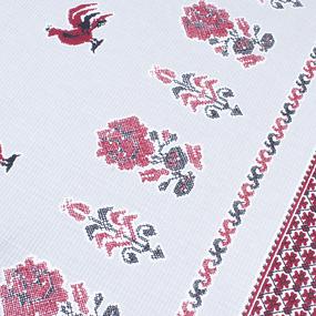 Фартук кухонный из вафельной ткани 1102/2 Петухи цвет серый фото