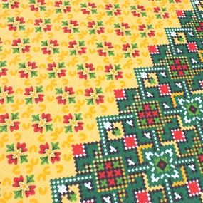 Фартук кухонный из вафельной ткани 440 Народный цвет зелёный фото