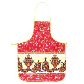 Фартук кухонный из вафельной ткани 240 цвет красный фото