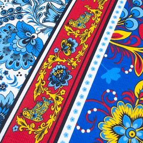 Фартук кухонный из вафельной ткани 7 цвет синий фото