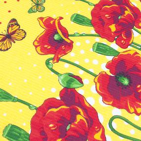 Фартук кухонный из вафельной ткани 438/3 Маки цвет жёлтый фото