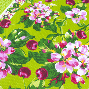 Фартук кухонный из вафельной ткани 243 цвет зелёный фото