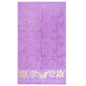 Полотенце велюровое Европа 50/90 см цвет сиреневый фото