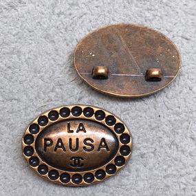 Пуговица металл ПМ138 18мм La pausa овал уп 12 шт фото