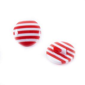 Пуговицы 15 мм цвет L027-24 красный/полоса упаковка 12 шт фото