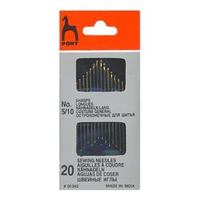 Иглы швейные PONY 01363 размер 5-10 уп 20 шт фото