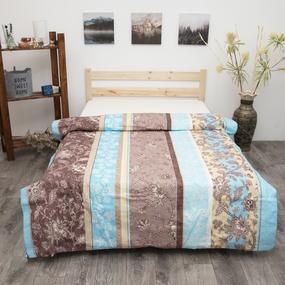 Пододеяльник из бязи 304/1 Ажур цвет голубой, 1,5 спальный фото