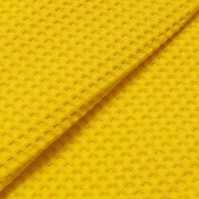 Халат детский вафельный с капюшоном желтый премиум р.28 фото