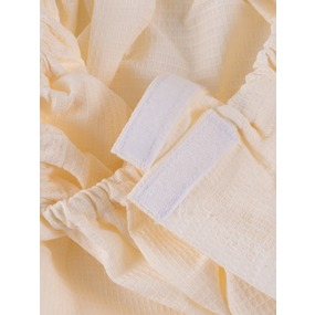 Вафельная накидка на резинке для бани и сауны женская цвет ваниль фото